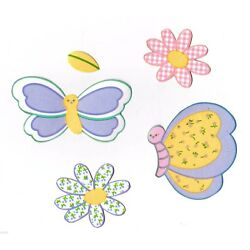 gossamer wings butterfly Kidsline wall decal set prepasted border cut outs