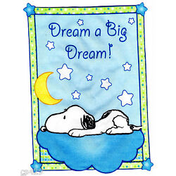 Baby snoopy wall safe fabric decal sweet dreams cut out 4.5 inch