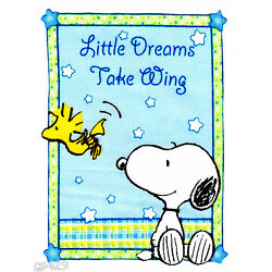 snoopy sweet dreams wall safe fabric decal take wings 4.5 inch