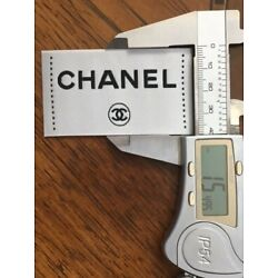 One Replacement clothing label, tag, color white,  appr. size is 2.7''x 1.5''