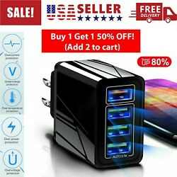 4 Multi-Port Fast Quick Charge QC 3.0 USB HUB Mains Wall Charger Adapter US Plug