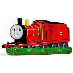 train red Thomas wall sticker glossy cut out border 10 inch
