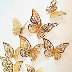 Hollow Butterfly Wall Sticker 4D DIY Kids Room Wedding Party Home Decorations