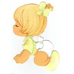 Precious moments girl wall safe sticker border cut out 6.5 inch