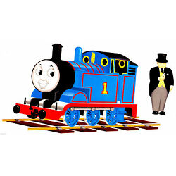 Thomas conductor train wall safe sticker set border cut out 6.5 to 10 inch