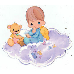 Precious moments boy wall safe sticker angel  cloud border cut out 5 to 9.5 inch