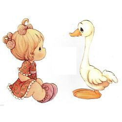 Precious moments girl wall safe sticker border duck cut out 4.5 to 7.5 inch