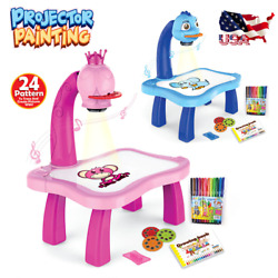 Children Led Projector Art Drawing Table Painting Board Kids Toys Desk Art Craft
