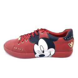 New ALDO x DISNEY LUNAR COOL - MICKEY SNEAKERS RED STUDDED LACE UP SZ 11 MEN