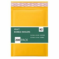SALES4LESS #2 8.5x12 Inches Kraft Bubble Mailers Shipping Padded Envelopes Pa...