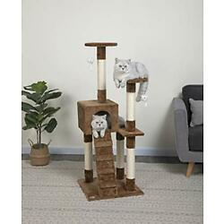 Go Pet Club 52-Inch Cat Tree Brown 1 Count Pack of 1 F57