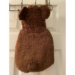 Top Paw U PIC SIZE Dog Brown Bear Sherpa Hoodie Coat Size Small NEW NWT LAST ONE