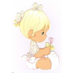 baby girl Precious moments wall decal flower prepasted border cut out 5 inch