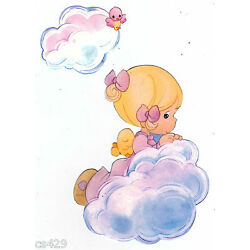 girl cloud Precious moments wall sticker peel & stick border cut out 4.5 inch