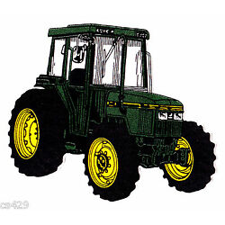 John deer tractor farm wall decal prepasted border cut out 3.5 inch