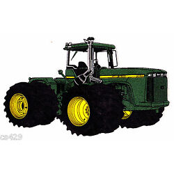 farm tractor John deer wall decal prepasted border cut out 4.5 inch
