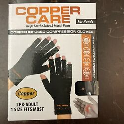 Copper Care Y Copper infused compression gloves Adult, 1 Size Fits Most
