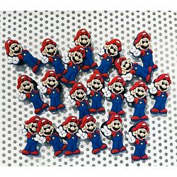 Lot of 20 Super Mario Character Shoe Charms + (FREE Gift w/ALL orders)