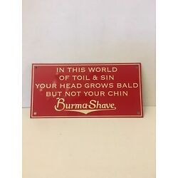 Burma Shave Tin, 1950''s Barbershop Sign, Excellent Condition