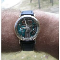 Vintage Accutron Spaceview Original Chapter Ring Case Ref 2531- Serviced