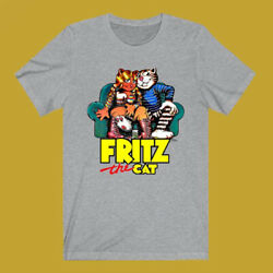 Fritz The Cat Men's Gray T-Shirt Size S to 3XL