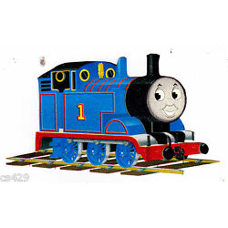 Thomas train blue wall decal red prepasted border cut out 3.5 inch