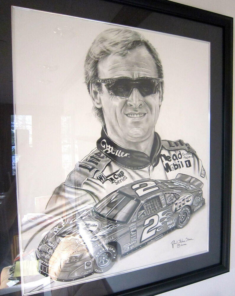 rusty wallace nascar champion painting robert stephen simon ebay. Black Bedroom Furniture Sets. Home Design Ideas