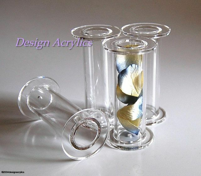 wedding cake pillars and dowels uk 4 x 4 quot chunky clear hollow acrylic wedding cake pillars ebay 23459
