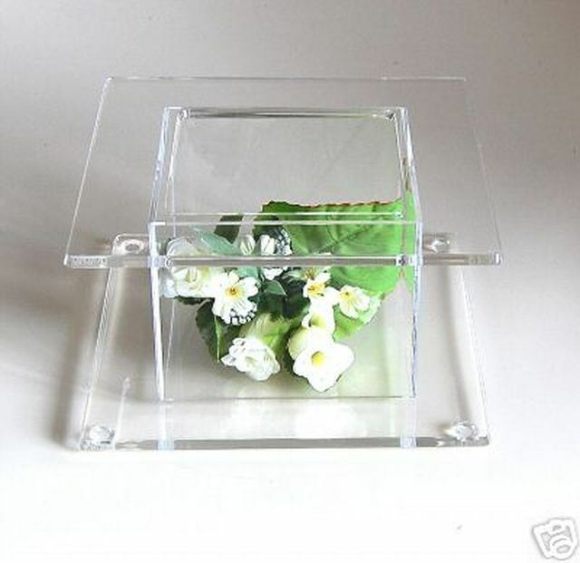 clear wedding cake stand square clear acrylic cake stand wedding display ebay 12881