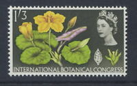 GB QE2 1964 BOTANICAL PHOSPHOR 1s3d MINT UM