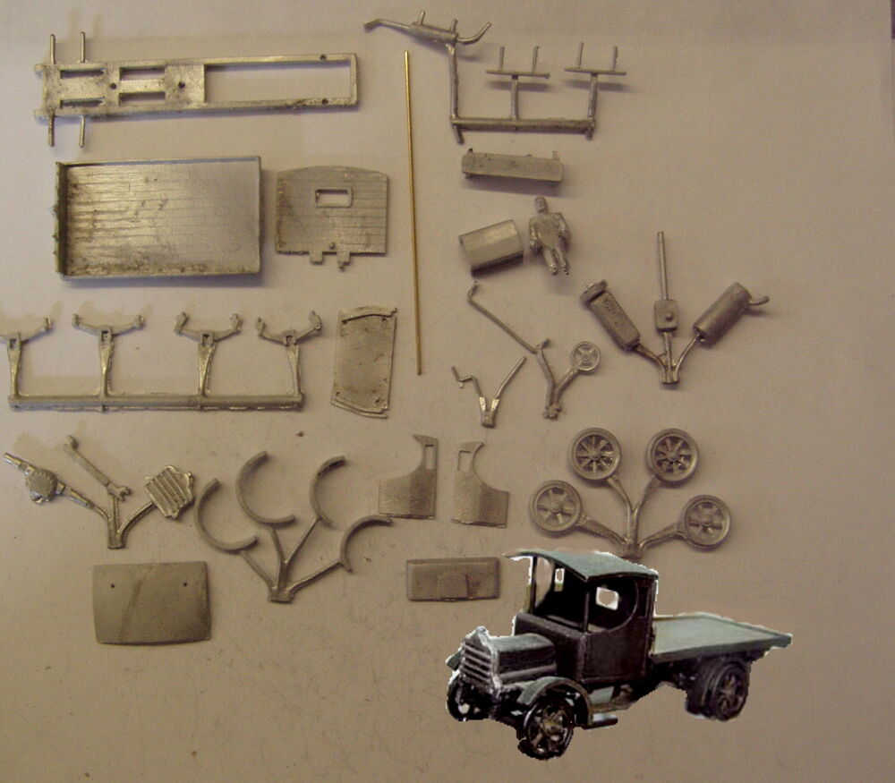 P D Marsh Oo Gauge Pw51 Daimler Flatbed Lorry Kit Requires