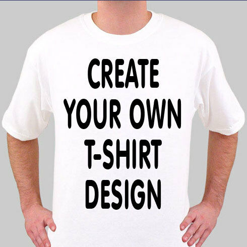 Design create your own funny personalised white t shirt ebay for Print my own t shirt design