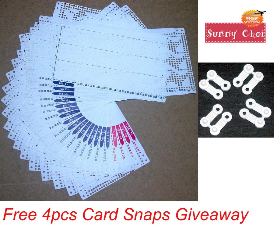 Pre Punch Card Pattern Set For Brother Singer Knitting Machine KH860 KH868 SK...