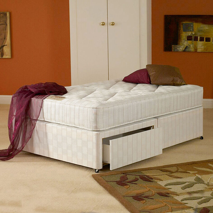 3ft single oxford orthopaedic divan bed next day 3 ft ebay Divan single beds