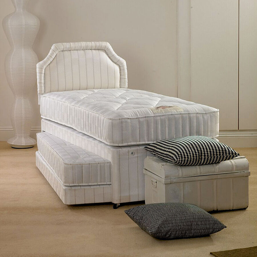 Star Buy 3ft Single Oxford 3 In 1 Guest Bed With Pull Out