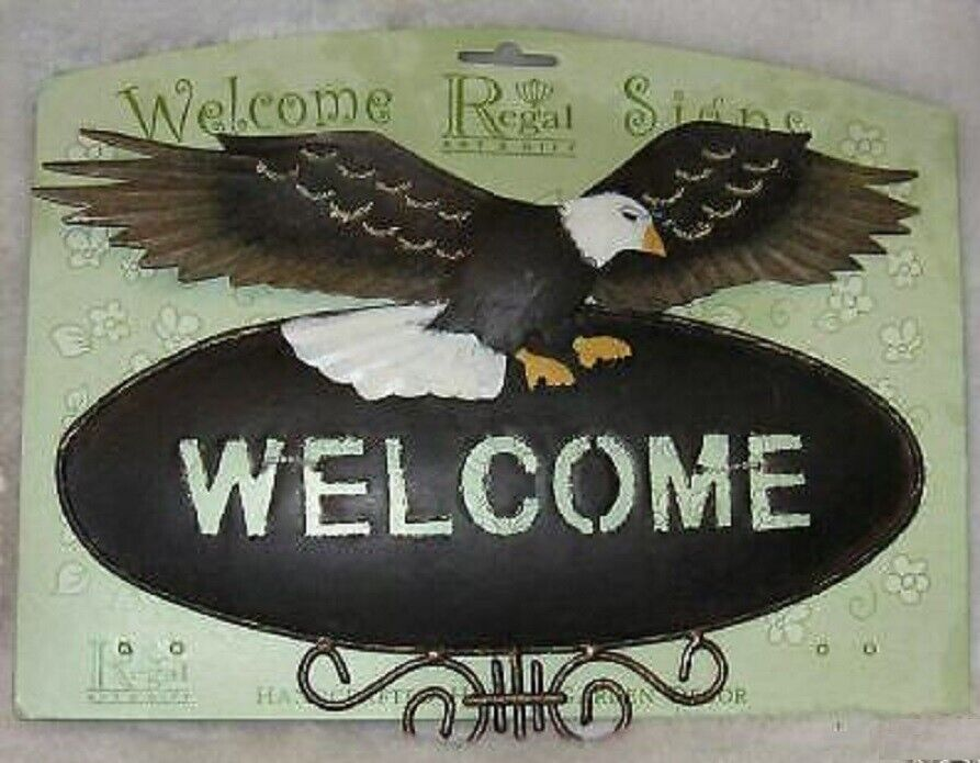 Eagle Welcome Sign Metal Ebay
