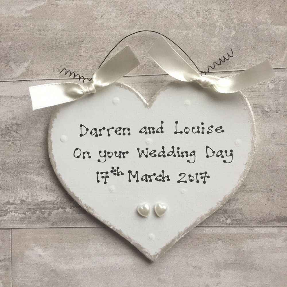 Personalised Wedding Gift Heart : PERSONALISED Wedding Engagement Anniversary Present Gift ~ Heart Sign ...