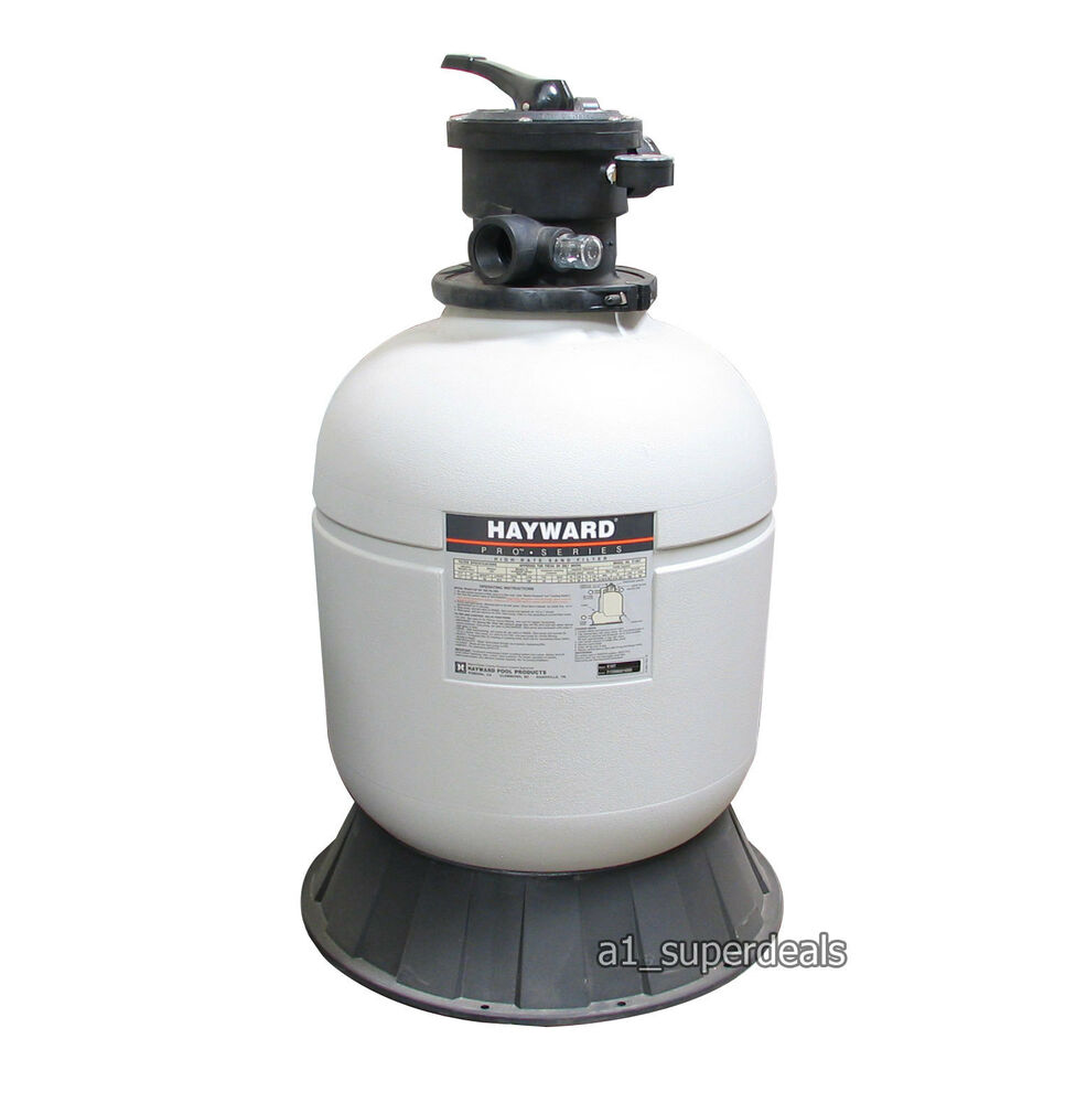 hayward s166t92s swimming pool sand filter 16 with valve ebay. Black Bedroom Furniture Sets. Home Design Ideas