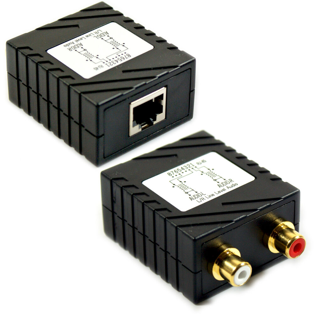 Rca Cable Extenders : Rca audio cable extender balun up to m cat e