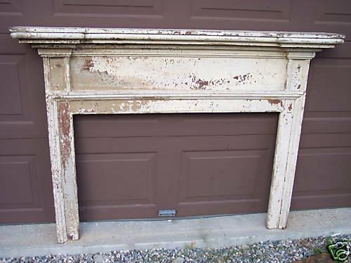 antique early pine fireplace mantel ebay