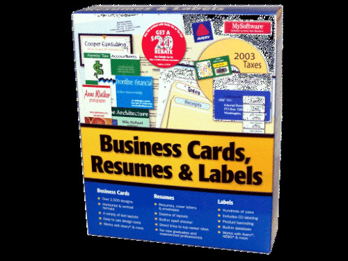 my software business card resume  u0026 label maker