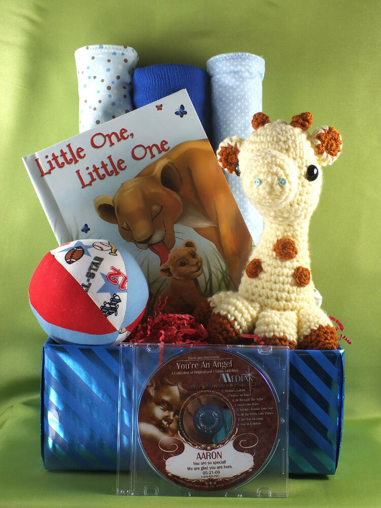 Things For Baby Showers Uk ~ Personalized lullaby cd baby gift basket all handmade