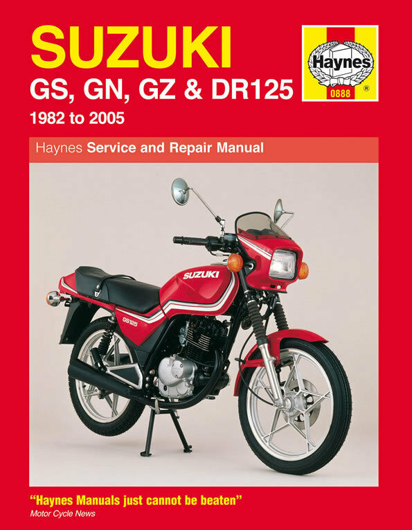 Haynes Manual 0888 Suzuki Gs125 Gn125 Gz125 Marauder