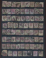 GB QV PARCEL POST 1 1/2d JUBILEE Collection...70 stamps