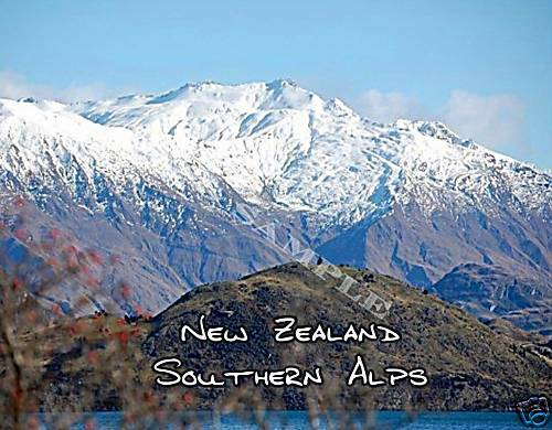 new zealand southern alps souvenir fridge magnet ebay. Black Bedroom Furniture Sets. Home Design Ideas