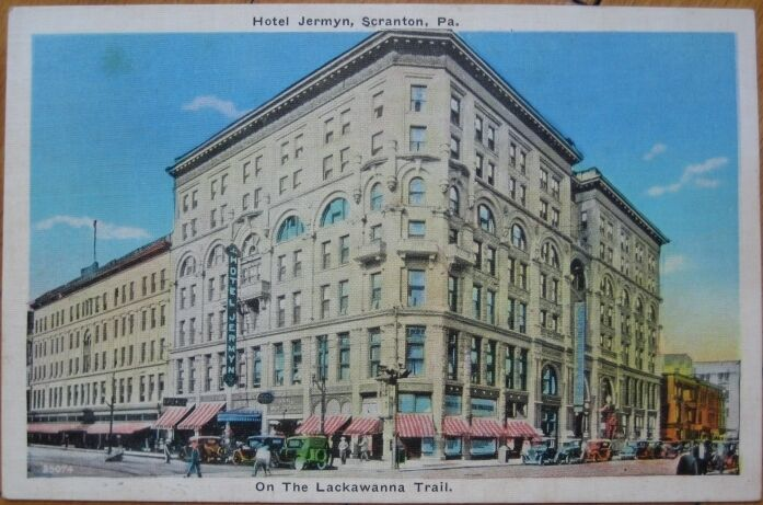 1930 postcard hotel jermyn scranton pennsylvania pa ebay. Black Bedroom Furniture Sets. Home Design Ideas