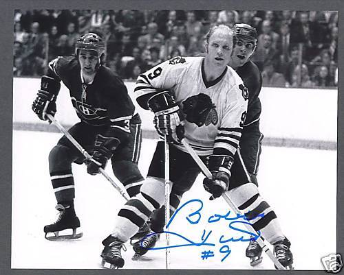 Bobby Hull Blackhawks 16 Bobby Hull sign...