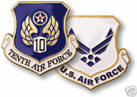 USAF  UNITED STATES TENTH AIR FORCE  CHALLENGE COIN