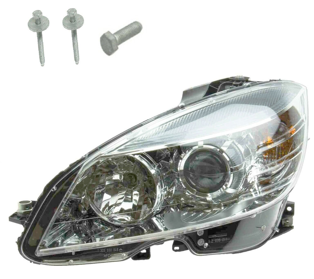 Oem left headlight assembly without xenon new for for Mercedes benz c300 headlight bulb