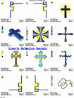 CROSSES VOL.1 (4x4) LD MACHINE EMBROIDERY DESIGNS